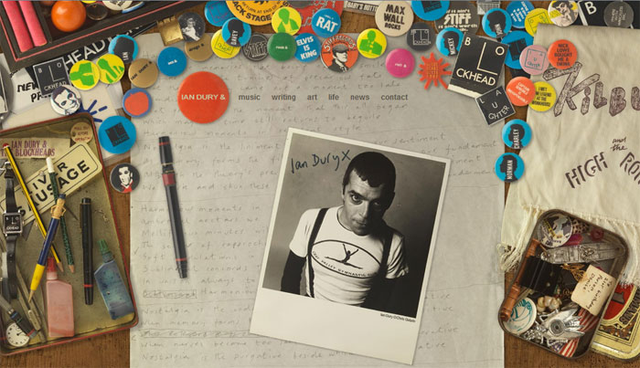 Ian Dury Website Image